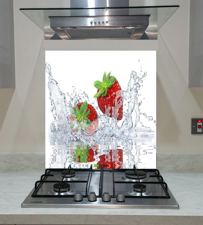 55cm Diameter Adjustable Height 60 75 Cm Coffee Table: Splashback With Strawberries Splash On The White
