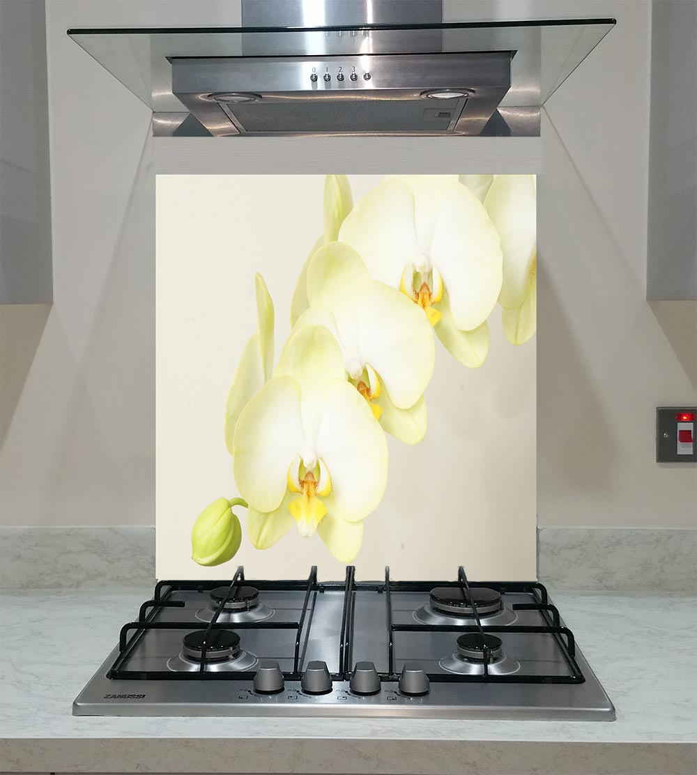 55cm Diameter Adjustable Height 60 75 Cm Coffee Table: Splashback With An Orchid Flower ANY SIZE