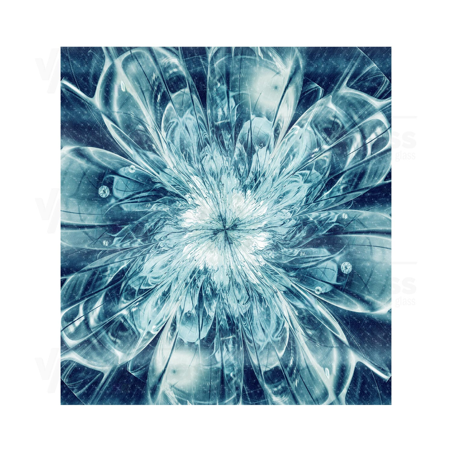 55cm Diameter Adjustable Height 60 75 Cm Coffee Table: Splashback Witha A Fractal Flower ANY SIZE