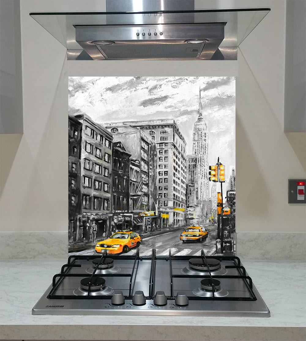 Splashback With The Street View Of New York And Modern