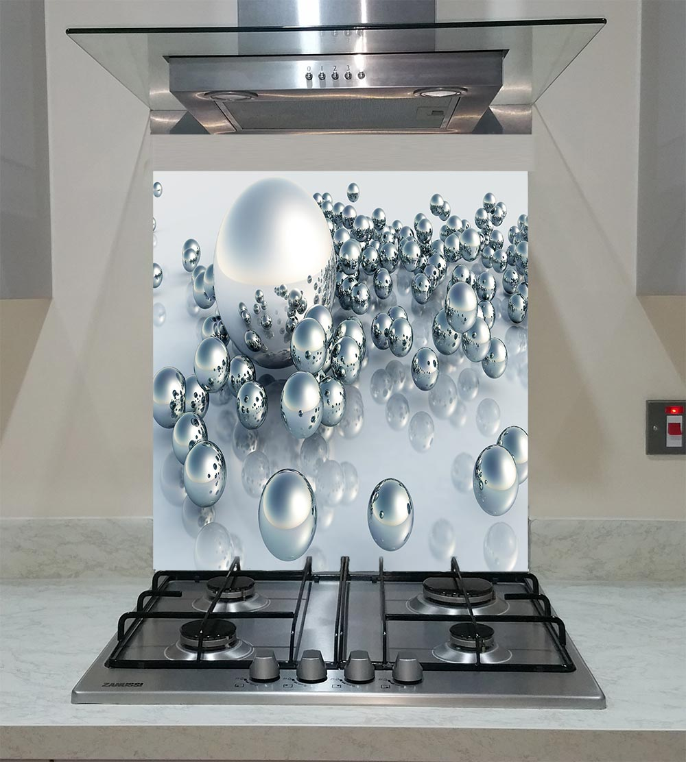 55cm Diameter Adjustable Height 60 75 Cm Coffee Table: Splashback With 3d Balls ANY SIZE